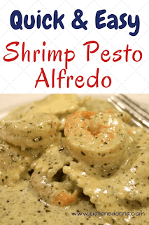 Shrimp Pesto Alfredo