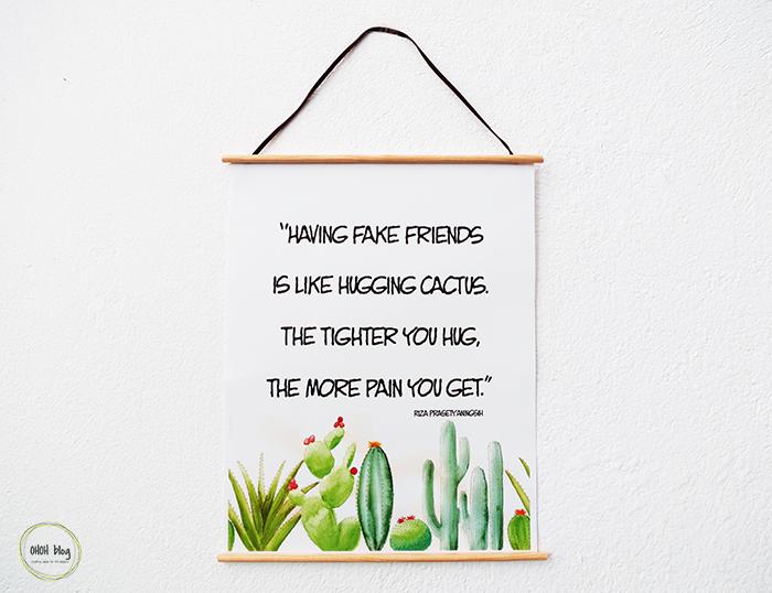 The easiest way to hang a printable