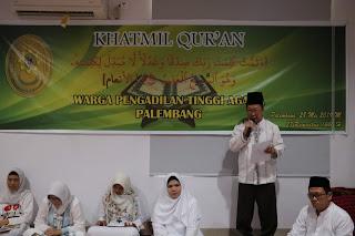 Khatmil Qur'an Warga Pengadilan Tinggi Agama Palembang