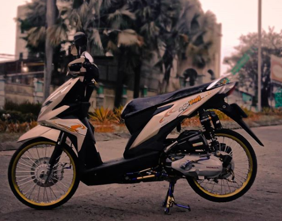 6 Konsep Modifikasi Sepeda Motor Beat New Babylook Style