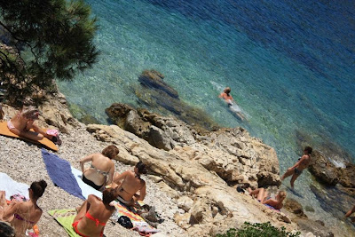 Beach in Hvar Town