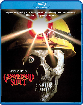 Cover art for Scream Factory's upcoming Blu-ray release of STEPHEN KING's GRAVEYARD SHIFT!