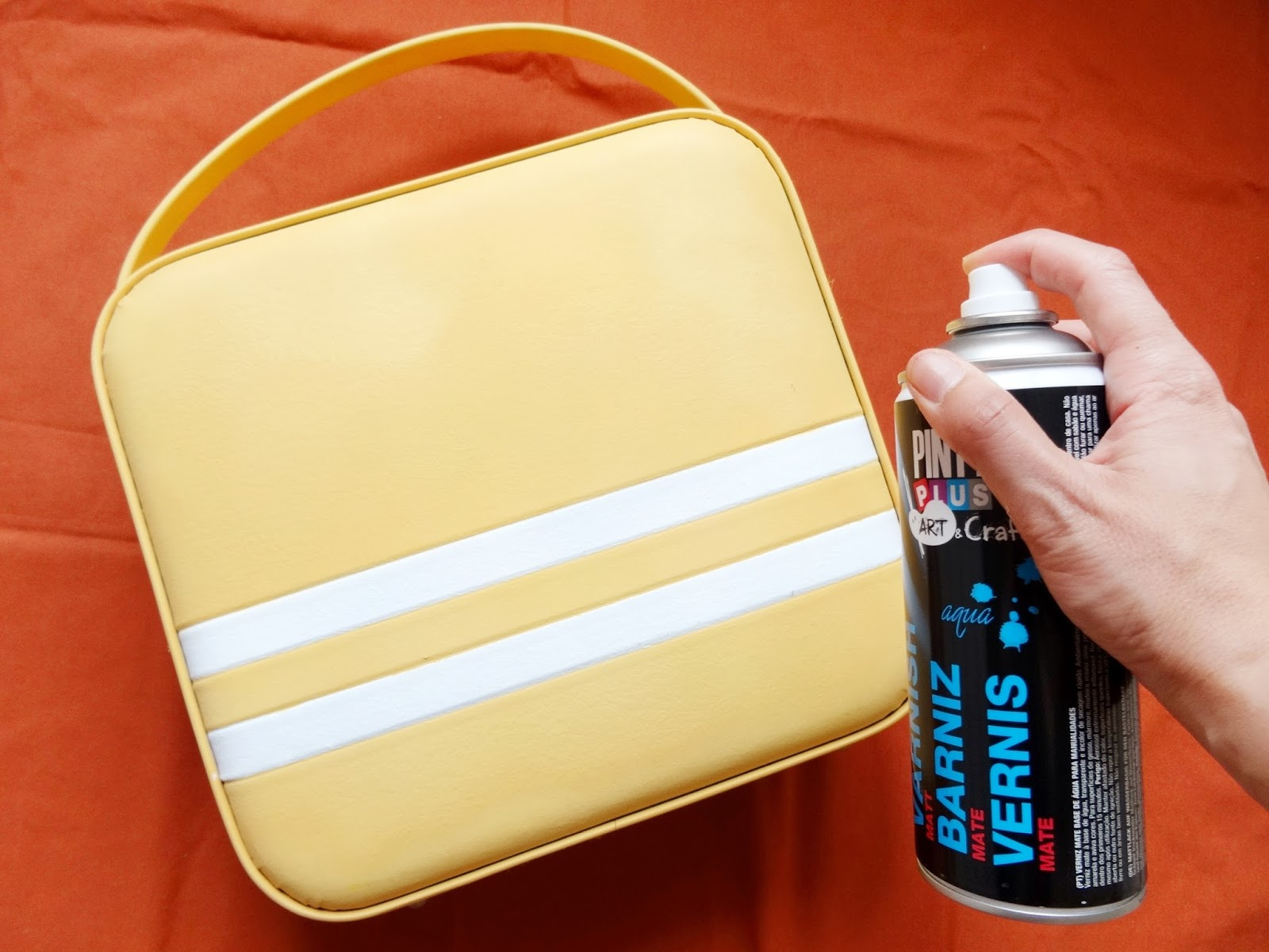 Mi papel preferido antes y despu s de una maleta con - Barniz para chalk paint ...