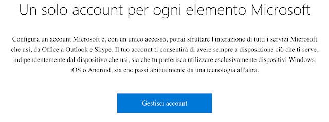 come configurare account microsoft