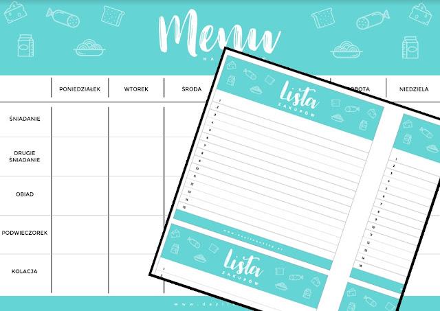 planner do druku, plannery za darmo, free planner, daylicooking, organizacja pracy w kuchni