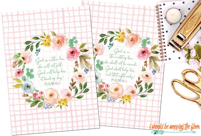 Free Psalm 46:5 Printables