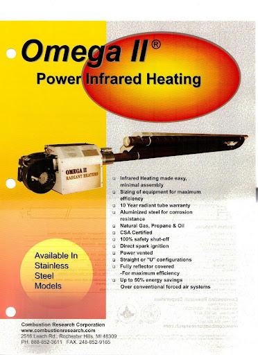 Omega Ii Radiant Tube Heater