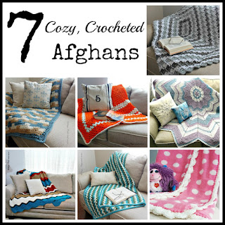 Vintage Paint and more... 7 cozy crocheted afghans that you can make