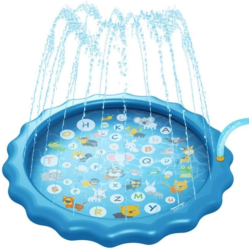 """30%OFF 3-in-1 Splash Pad Sprinkler for Kids – 67"""""""