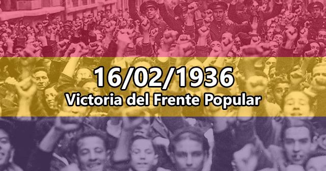 Victoria del Frente Popular en 1936