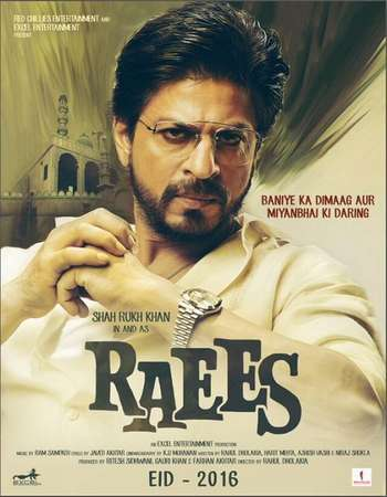 Raees 2017 Hindi DVDRip 480p ESubs 400MB