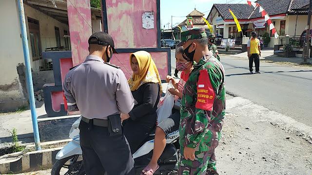 TNI-Polri Juwiring Sosialisasikan Penindakan Bagi Pelanggar Protokol Kesehatan