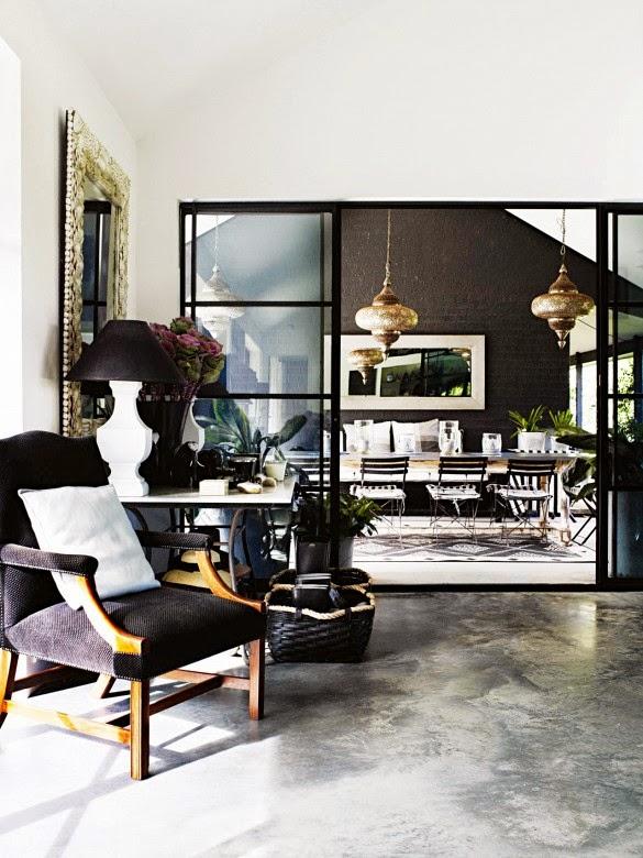 decorar salon en blanco y negro