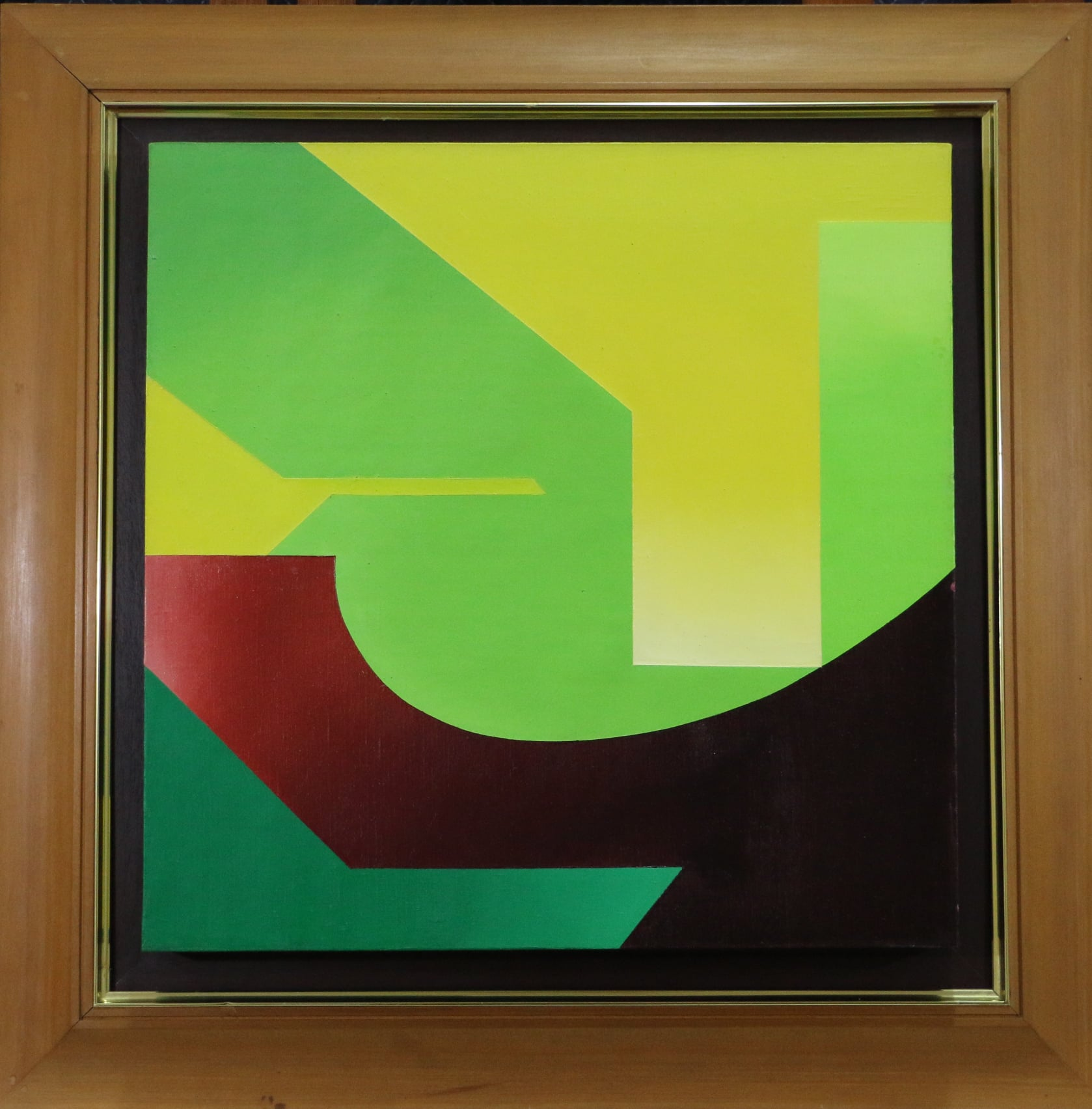 Painting Green, Yellow, Red, Purple (1974) by Lilian Hwang