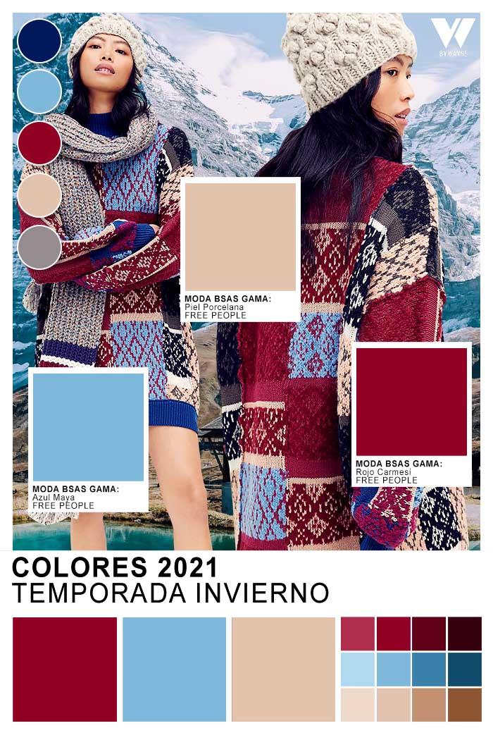 Paleta cromatica otoño invierno 2021 colores de moda