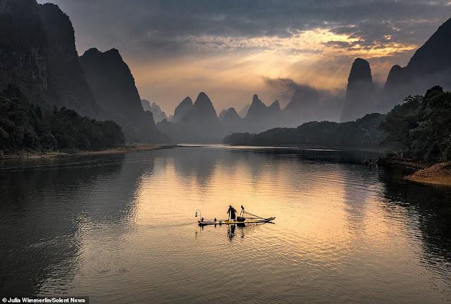 Ảnh đẹp Lão Ngư phủ tại sông Lệ Giang, Trung Quốc 3