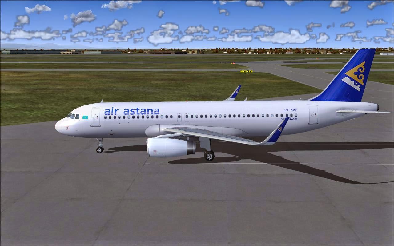 FSRepainter: PROJECT AIRBUS A320-200SL Air Astana P4-KBF