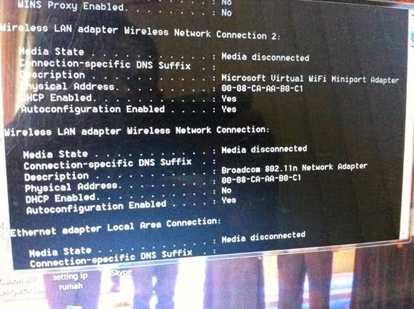 Cara melihat MAC Address Komputer