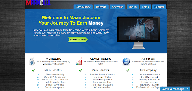 please do not invest on maanclix.com it is fraud website.