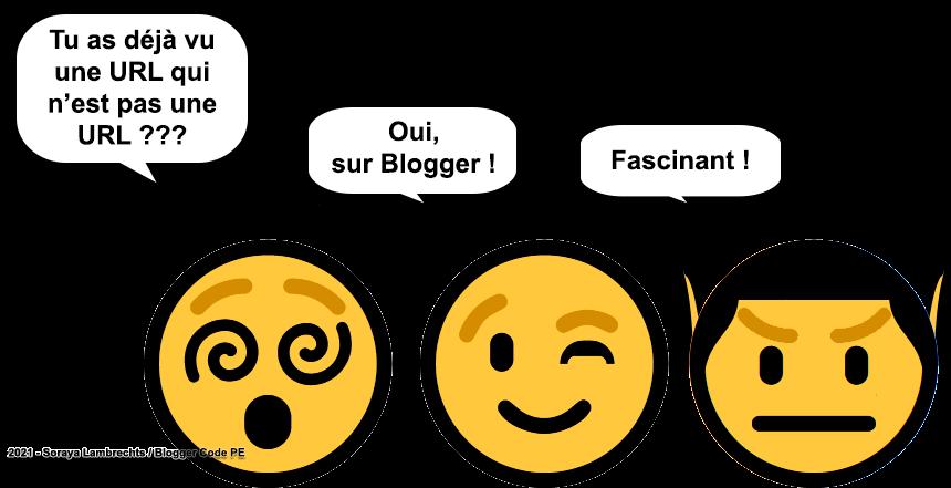 Blogger Humour - Smiley-Spock est fasciné par les URLs Blogger.