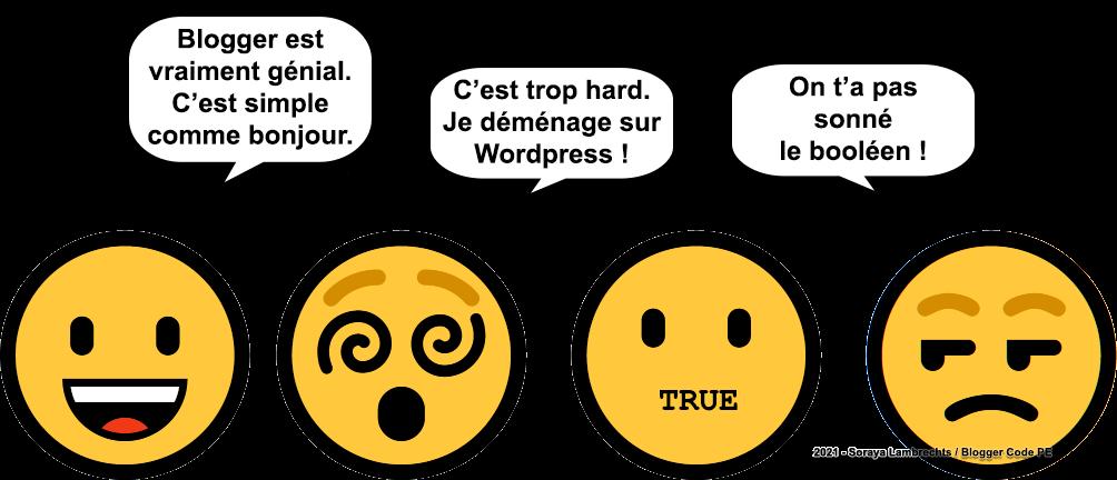 Blogger Humour - Trop facile pour Blogger, trop difficile pour Wordpress.
