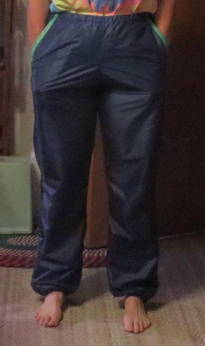blue rain pants