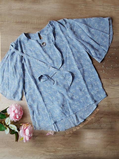 Dresslily Self Tie Tiny Floral Print Chiffon Blouse
