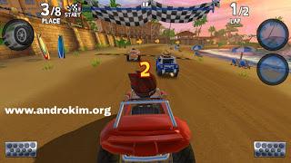 تحميل لعبة Beach Buggy Racing 2 مهكرة للاندرويد Download BB Racing 2 v1.0.1 Android