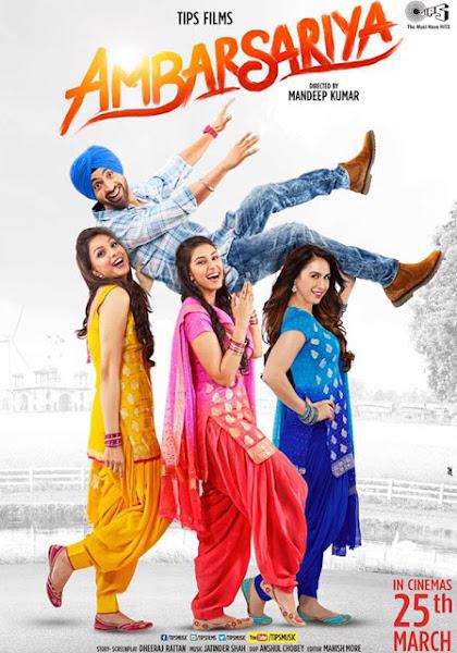 Poster Of Ambarsariya 2016 720p Punjabi DVDRip Full Movie Download