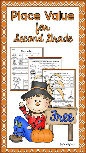Fall Math Freebie for 2nd grade