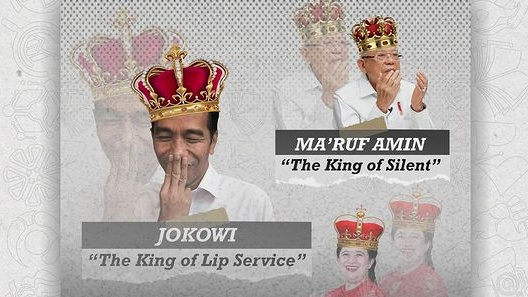 BEM Unnes: Ma'ruf Amin King of Silent, Puan Queen of Ghosting