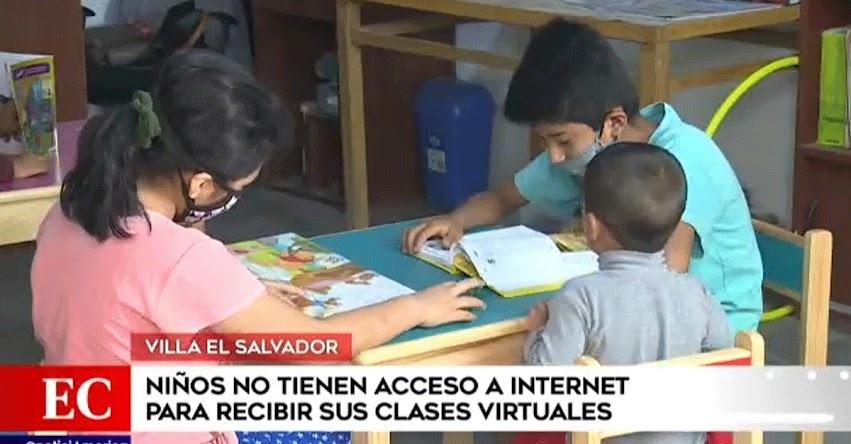 Niños no tienen acceso a internet para recibir clases virtuales en Villa El Salvador