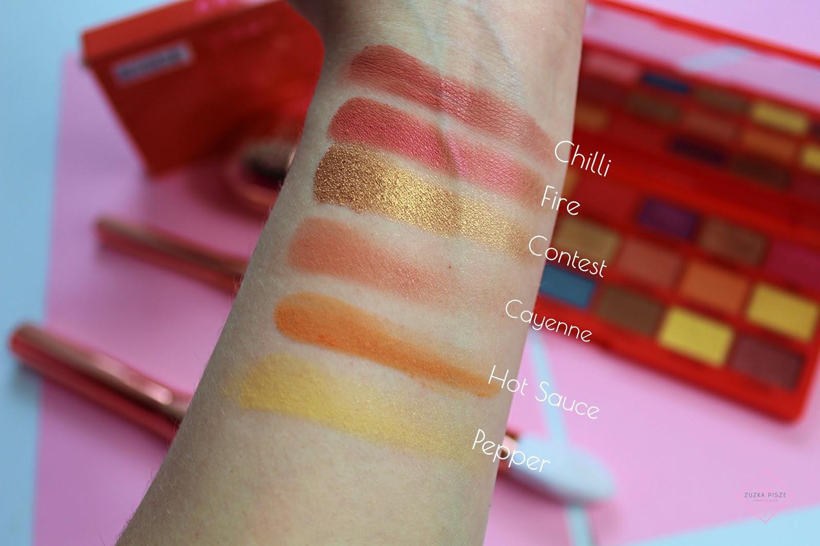paleta cieni do powiek TASTY CHILLI PALETTE - Makeup Revolution