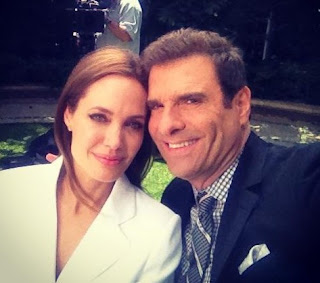 Jerry Penacoli clicking selfie with Angelina Jolie