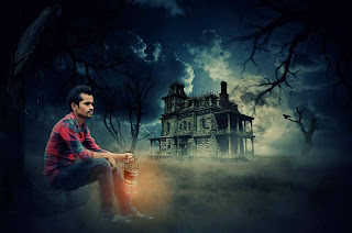 Picsart Manipulation Horror House in The Jungle