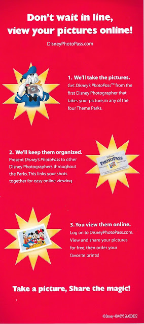 Disney Photopass Pamphlet View Your Pictures Online