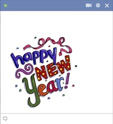 Facebook Happy New Year Emoticon