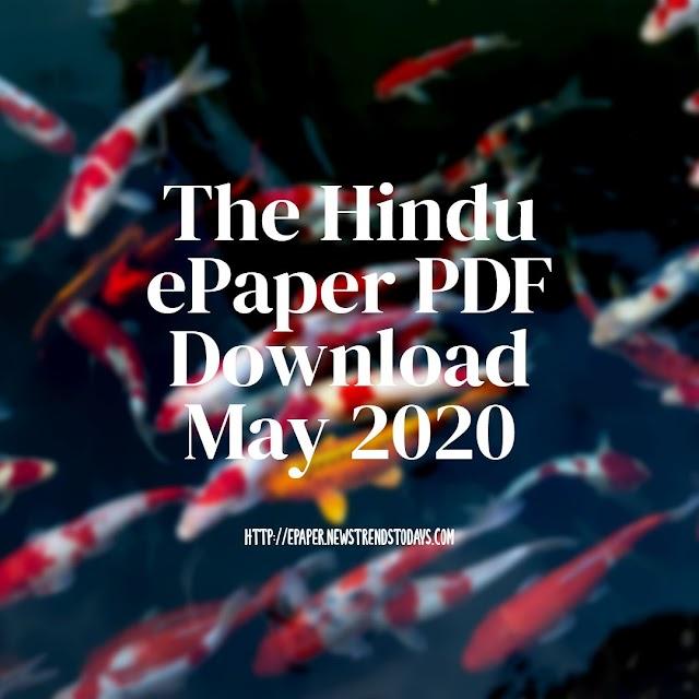 The Hindu ePaper PDF Download May 2020