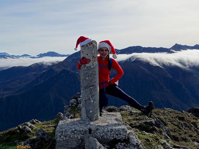 En la cima del Pico Pozalón
