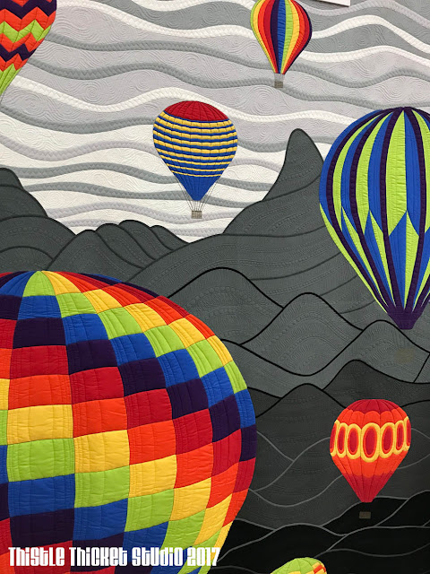 """Mountain Balloon Festival"" by Katherine Jones on Thistle Thicket Studio. www.thistlethicketstudio.com"