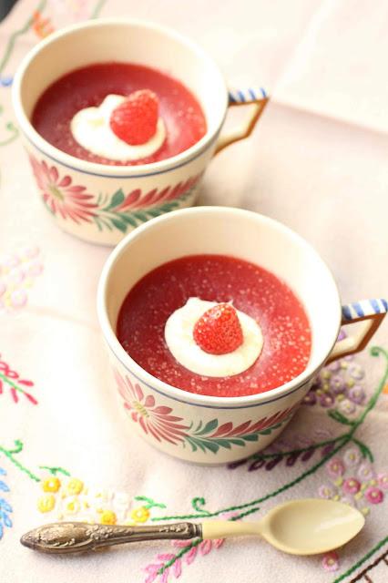 creme dessert fecule de pomme de terre fraises