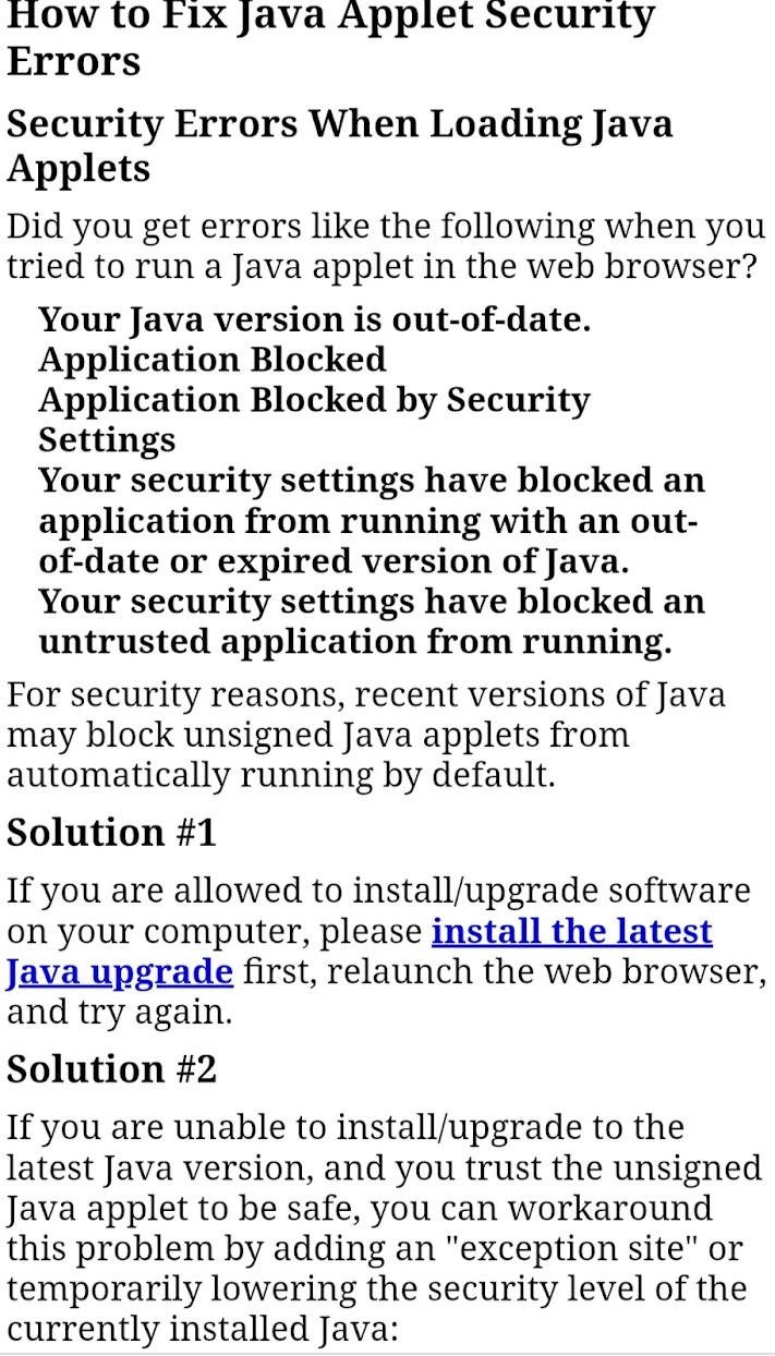 java security error,fix application blocked by Java security error?,Why is my application blocked by Java security?,How do I enable Java security? ,Application blocked by Java security Exception Site List not working,Java security settings,Application blocked by Java security even after adding to exception list,Java security settings Windows 10,application blocked. click for details,Application Blocked by Java security Windows 10 Chrome,Application blocked by Java Security expired certificate