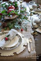 Natural Rustic Christmas Table Postcards Ridge