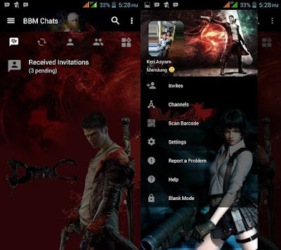 BBM Mod Devil May Cry v3.2.5.12 APK Transparan