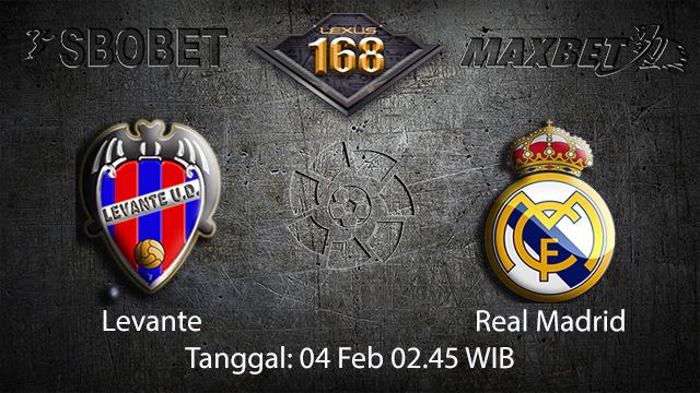 PREDIKSIBOLA - PREDIKSI TARUHAN LEVANTE VS REAL MADRID 4 FEBRUARY 2018 (SPAIN LA LIGA)