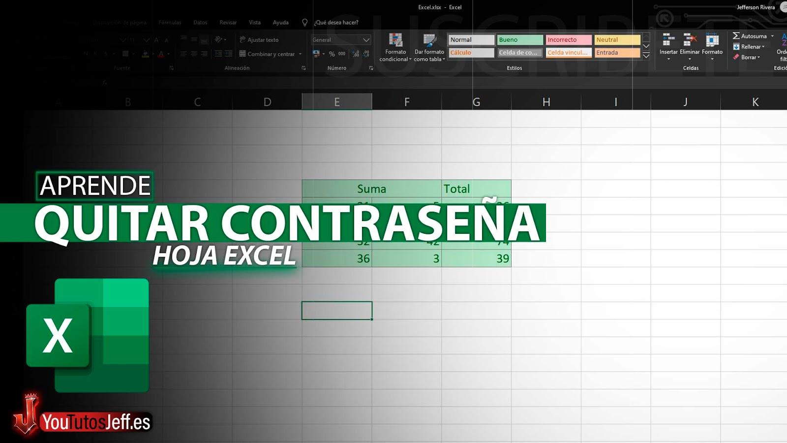 Como Quitar Contraseña de Hoja Protegida de Excel