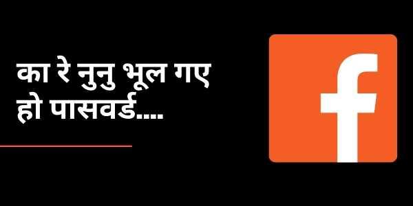 मेरा फेसबुक पासवर्ड क्या है | How to reset your facebook password in hindi
