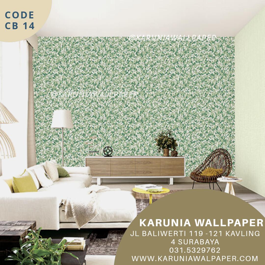 jual wallpaper motif daun