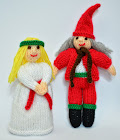 St. Lucia and Elf Doll Knitting Pattern