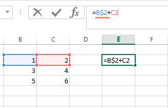 Как зафиксировать ячейку в формуле  Excel